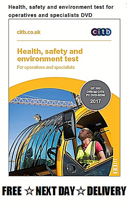 CITB New DVD CSCS Card Test for Operatives & Specialists 2017 2018 ☆UPDATED☆