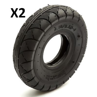 2 Petrolscooter Tyre 410/350-4 4.10/3.50-4 410-4 350-4 350x4 410x4 4'' 4 Inch