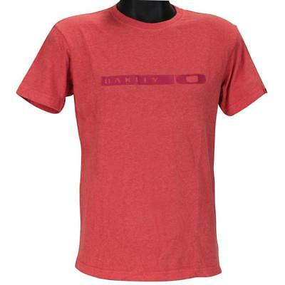 Oakley BLOCK T-Shirt Size S Small Red Marle Mens Boys Slim Fit Tee Shirt