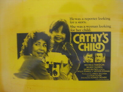 CATHY'S CHILD 1979 Australian cinema movie projector glass slide Bryan Brown