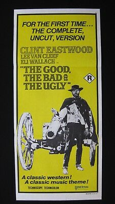 THE GOOD, THE BAD & THE UGLY Orig Australian daybill movie poster Clint Eastwood