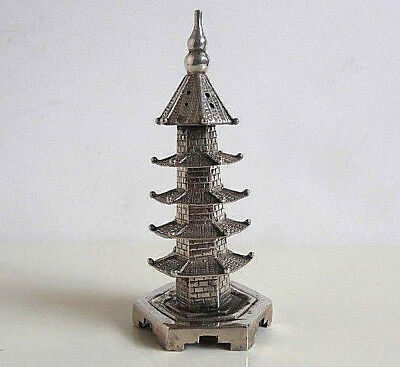 Rare Antique-Vintage Chinese Temple 850 Silver Salt or Pepper Shaker Hallmarked