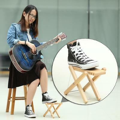 Foldable Wood Guitar Pedal Guitar Foot Rest Stool 3 Adjustable Height P9C6