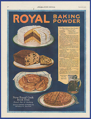 Vintage 1921 ROYAL Baking Powder Food Baking Kitchen Art Decor Print Ad 1920's