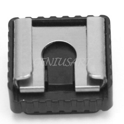 Plastic Metal Flash Hot Shoe Mount Adapter To 1/4 Inch Thread For Light Stand