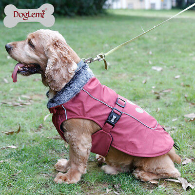 Waterproof Small/Large Pet Dog Jacket Clothes Winter Warm Rain Coat S-3XL Size