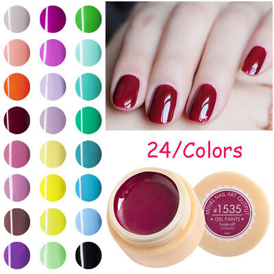 24Colors Gel 3D Nail Art Paint Draw Painting Varnish LED UV Gel Nail Art Tip DIY