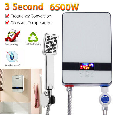 6500W Portable Mini Tankless Instant Electric LCD Hot Water Heater Bathroom AU