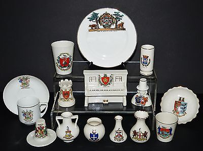 LOT Collection CRESTED WARE China ORNAMENTS W.H. GOSS Arcadian SHELLEY Cyclone