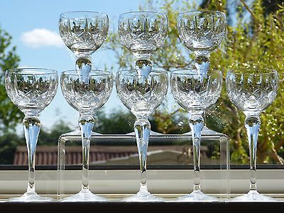 8 Royal BRIERLEY Cut CRYSTAL Wine HOCK Glass GLASSES in the WINCHESTER Pattern