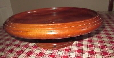 Handcrafted African Sapele Wood Fruit Bowl
