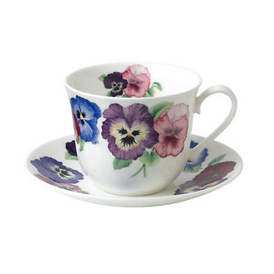 Roy Kirkham Breakfast Cup & Saucer Pansy Flowers Tea Drinks Home Dining