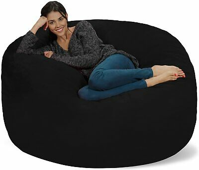 CLEARANANCE! Living Room Bean Bag Cover Soft Suede Reading Relaxing Chair Couch