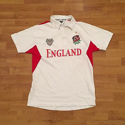 England XV Mad Dogs And Englishmen Rugby Polo Shirt White Mens Size Small