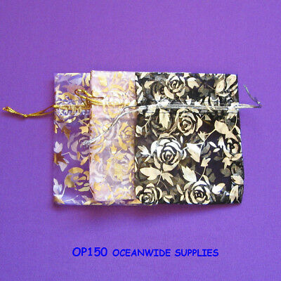BEST Selling 120 Organza Pouch-7.5x9cm-Jewellery Gift Bag | ROSE | AUSSIE Seller