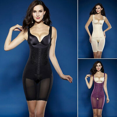 Women Full Body Shaper Top Waist Cincher Thigh Reducer Bodysuit Shapewear Corset