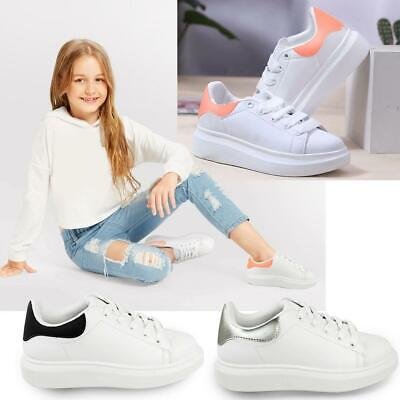 New Girls Kids Bali Sneakers Runners Sport Trainers Glitter Gym Pumps Shoes Size