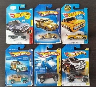 Hot Wheels Pick Up Trucks DIFFERENT MODELS Lot of 6 Complete or Individual