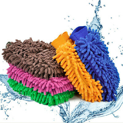 Soft Durable Microfiber Scratchless Car Cleaning Glove Coral Glove Brush Cleaner