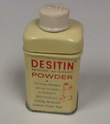 Vintage DESITIN NURSERY POWDER SAMPLE SIZE TIN