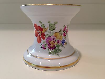 Hochst Hand-Painted Porcelain Floral Candlestick #2 Made in Germany New