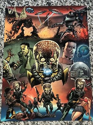 RARE 2012 Topps Mars Attacks 50 Years of Mayhem Promo Puzzle UNCUT SHEET
