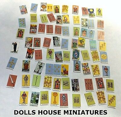 Pack of Tarot Cards, Dolls House Miniature Cards, 1:12 Scale Miniatures