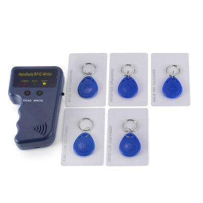 Handheld RFID Duplicator Copier Writer Programmer +5pcs Tags +5pcs Cards HS818