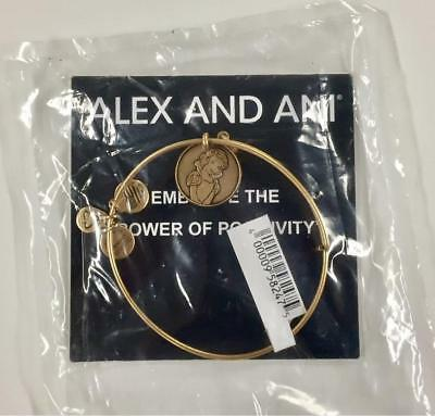 Disney Parks Alex and Ani SNOW WHITE Gold Charm Bangle Bracelet * NEW Sealed NWT
