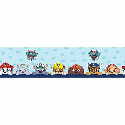 Paw Patrol Self Adhesive Wallpaper Border 5M Long Kids Bedroom Wall Decor New