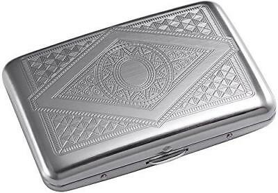 Credit Card Holder - Silver Stainless Steel RFID Blocking Credit Card Protector