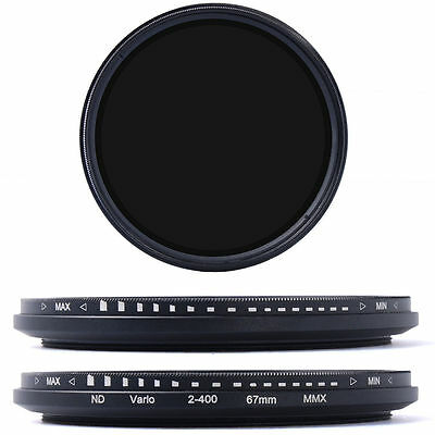 67mm Variable ND Fader Filter Neutral Density ND2 ND4 ND8 ND16 to ND400 LF26