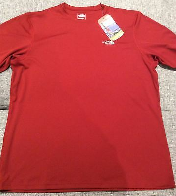 CARDINAL RED Large The North Face Flashdry T-shirt Mens Running Training Top