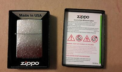 Zippo Windproof Refillable Genuine 207 Regular Street Chrome Lighter Made in USA