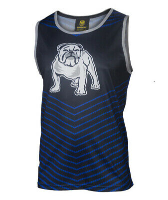 Canterbury Bankstown Bulldogs NRL Classic Sublimated Singlet Size S-5XL! S7