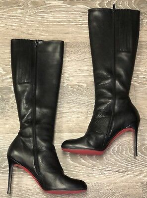 1a9ed7542d35 CHRISTIAN LOUBOUTIN LILI Suede 30Mm Knee High Boots Size 39.5 ...