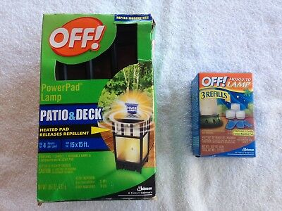 Off! Mosquito Repellent Power Pad Lamp Patio U0026 Deck Candle Lantern With  Refill