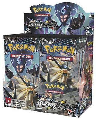 Sun & Moon Ultra Prism 9 Booster Pack Lot 1/4 Booster Box POKEMON TCG SM5