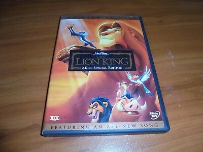 The Lion King (DVD, 2003, 2-Disc Platinum Edition) Used Disney