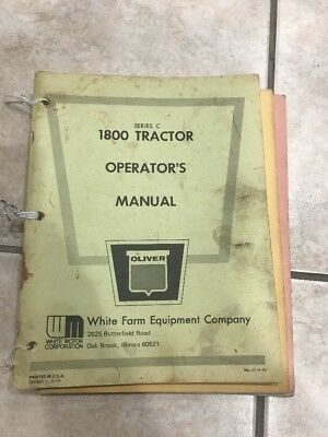 c.1964 Oliver 1800 Series C Tractor Operator's Manual