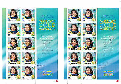 Australia 2000 Olympic CATHY FREEMAN digital double sheet first day cxl