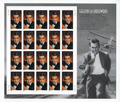 US Scott # 3692 MINT/NH LEGENDS OF HOLLYWOOD CARY GRANT SHEET of 20 (37¢ Values)