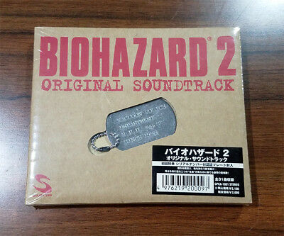 BIOHAZARD 2 Remake Promo Limited Soundtrack CD RPD Leon Dogtag Resident Evil