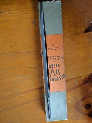 """WILTSHIRE Hand Files 175mm 7""""  Triangle Slim Taper Smooth . Australia made"""