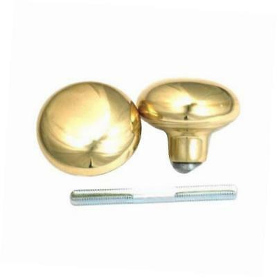 belwith products 1130 set/spindle knob, brass, 2-pack