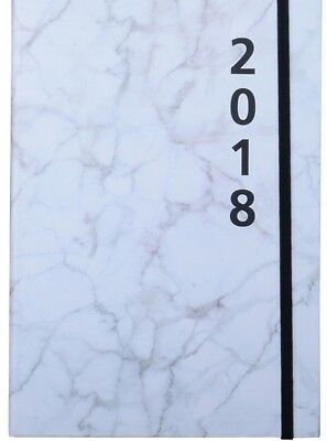 2018 Diary Cumberland Fashion Printed with Elastic A5 Week to View 4014-2 Marble
