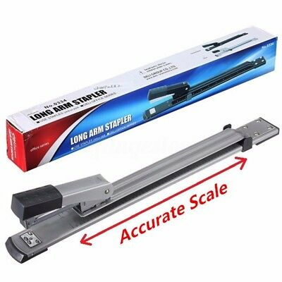 Convenient Long Arm Full Reach Metal Stapler 20 Sheet Capacity For A3 A4 Paper