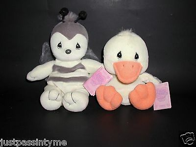 Enesco Precious Moments`Tender Tails` Stuffed Animals,Beanies, Duck & Bumble Bee