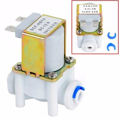 "1/2"" 20mm Electric Solenoid Valve Magnetic DC N/C Water Inlet Flow Switch 12V"