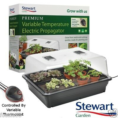 Stewart Electric Large Heated Propagator with Variable Temperature Control